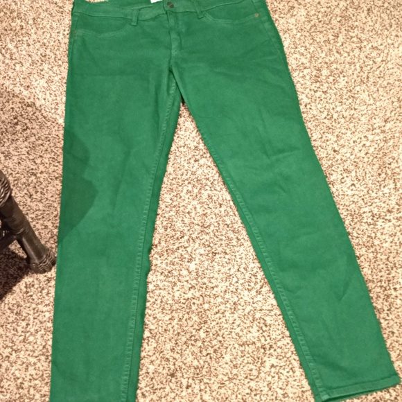 Abercrombie & Fitch Denim - Abercrombie and Fitch Green Skinny Jeans